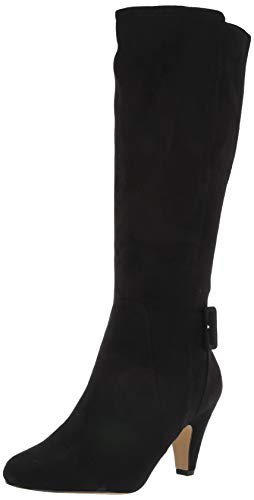 Bella Vita Women's Troy II Dress Boot Knee High, Black Suede, 8.5 M US