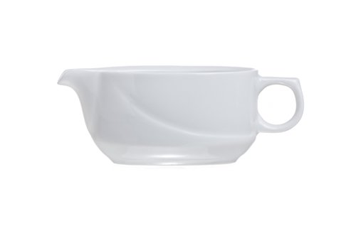 4-Piece Porcelain 3.3 Oz Gravy Suace Boat, Restaurant&Hotel Quality by Smart And Cozy