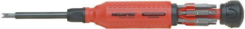 Megapro 151TP 15-In-1 Tamperproof Driver, Red/Black 15in 1 Screwdriver Tool