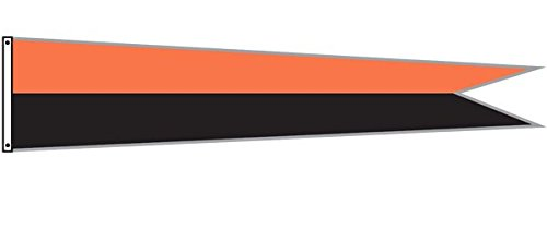 Dori Pole Pennant Flag (Orange & Black, 14 Foot) by Dori Pole