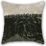 Artistdecor 20 X 20 Inches / 50 By 50 Cm Oil Painting Frederic Remington - The Infantry Square Throw Pillow Case ,twice Sides Ornament And Gift To Bar Seat,gril Friend,boy Friend,floor,wife,gf