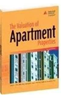The Appraisal Of Apartment Buildings Daniel J O Connell
