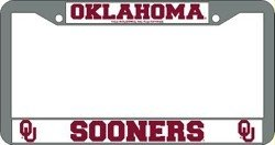 Oklahoma Sooners Chrome License Plate Frame