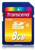 10 Pack Transcend TS8GSDHC10 10 x 8GB SDHC Class 10 Flash Memory Card
