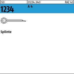100 Splinte ISO 1234 A4 2,5 x 32 V4A Niro Edelstahl
