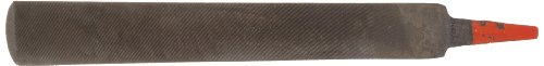 Simonds Hand File, American Pattern, Double Cut, Half-Round, Black Oxide Coating, Fine, 8