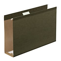 Office Depot Extra Capacity Hanging Folders With Reinforced Tabs, 3in Expansion, 1/5 Tab Cut, Legal Size, Standard Green, pk Of 25, OD4153X3