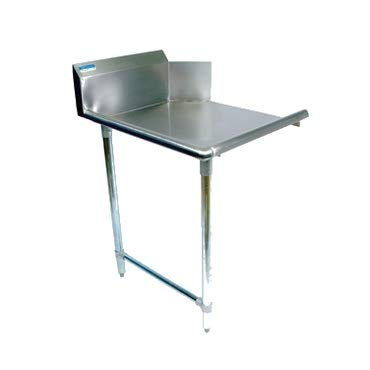 BK Resources BKCDT-36-L Clean Dishtable, straight design, 36 inch W x 30-7/8 inch D x 46-1/4 inch H, right-to-left operation, 18/304 stainless steel top