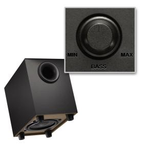 subwoofer and bass control