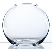 Vase boule TOBI en verre, transparent, 8 cm, Ø 10 cm - Vase rond / Photophore transparent - INNA Glas