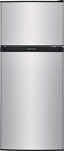 FFPS4533UM 19″ Compact Refrigerator with 4.5 cu. ft. Total Capacity Adjustable Glass Shelves Reversible Door and Full Width Freezer in Silver Mist