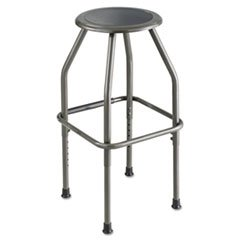* Diesel Industrial Stool, Stationary Padded Seat, Steel Frame, Pewter