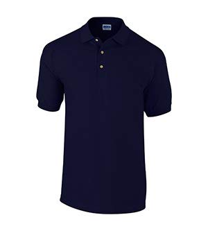 Gildan Mens Ultra Cotton Pique Polo Shirt (L) (Navy)