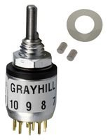 Rotary Switch, 6 Position, 2 Pole, 30 °, 200 mA, 115 V, 56 Series