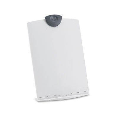 Freestanding Desktop Copy Stand/Clipboard, Plastic, 75 Sheet Capacity, Platinum, Total 6 EA, Sold as 1 Carton