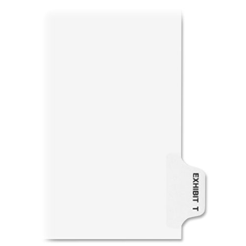 New Avery Individual Legal Dividers, Letter Size, Exhibit T (01390) for sale