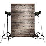 Backdrop for Pictures of Baby Birthday Wedding Bridal Shower Party Wall Decoration Table Desktop Photos Props Brown Wood Scene -