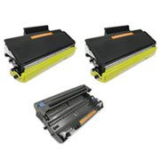 Combo Remanufactured Brother MFC-8480DN, MFC-8890DW, DCP-8080DN, DCP-8085DN, HL-5340D, HL-5370DW (TN650, DR620) 2 Toner and 1 Drum, Office Central