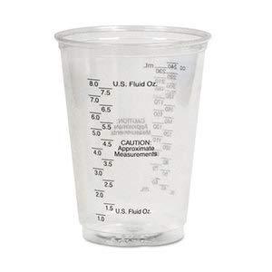 Dart Plastic Medical & Dental Cups, Graduated, 10 Oz, Clear, 50/Bag, 20 Bags/Carton