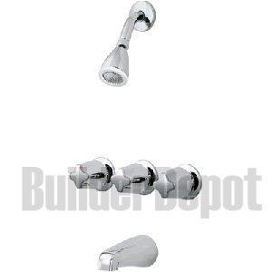 Pfister 3-Handle Tub & Shower Faucet with Metal Verve Knob Handles, Polished Chrome (Price Pfister Verve)