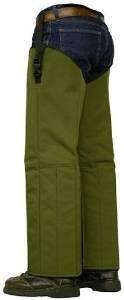 Crackshot Snake Chapz Olive Green Nylon - Short Stocky R-3941