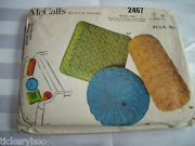 McCall's Pattern #2467 ***THREE SMOCKED PILLOWS*** Round, Square & Bolster