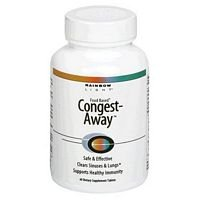 Rainbow Light Congest Away Tablet - 60 per pack -- 3 packs per case.