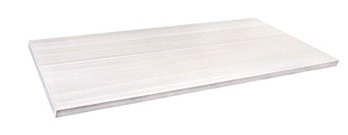 MD Group freedomRail Solid Shelf - Snowdrift Live, 24'' x .625'' x 12'' x 4.5 lbs, 24 in. x 12 in.