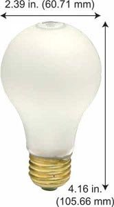 Incandescent Light Bulbs 100ARS/SS 277V Frost (Case of 5)