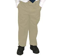 French Toast Uniforms Boys' Slim Double Knee Pant (Khaki Slim)