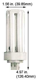 (Case of 20) Triple Twin Tube Compact Fluorescent Lamps | CFM26W/GX24Q-3/827