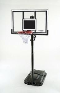 Lifetime 71524 XL Height Adjustable Basketball System, 54 inch Shatterproof Backboard 71799-P from Lifetime