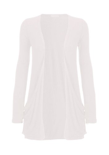Hot Hanger Ladies Plus tamaño bolsillo largo manga chaqueta 16 –�?6 Crema