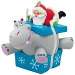 Hallmark Keepsake 2017 I Want A Hippopotamus For Christmas Santa Musical Christmas Ornament