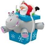 Christmas Ornaments - Hallmark Keepsake 2017 I Want A Hippopotamus For Christmas Santa Musical Christmas Ornament
