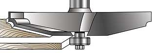 MLCS Raised Panel Router Bit: 12 Degree and Quarter Round Profile from MLCS