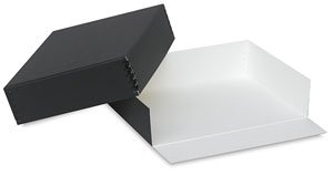 Lineco Museum Archival Drop-Front Storage Box, Acid-Free with Metal Edges, 17.5 X 22.5 X 3 inches, Black (733-2722) by Lineco