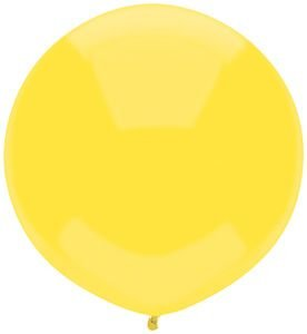 17'' Sun Yellow Outdoor Latex Balloons - Pack of 5 by Single Source Party Supplies