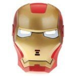 HELPYOU Happy Halloween Funny Holiday Toys Cosplay Dress Up Costume Universal Size Iron Man Pattern Mask Toy -