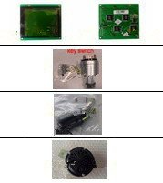 GOWE LCD panel + key switch+joystick grips+horn+air dryer for