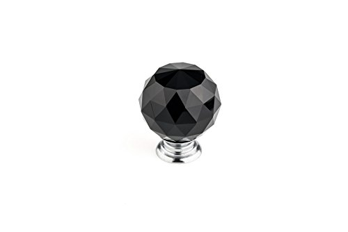 Richelieu Hardware - BP87375014090 - Eclectic Crystal Knob - 8737 - Chrome Black (Richelieu Eclectic Metal Cabinet Knob)