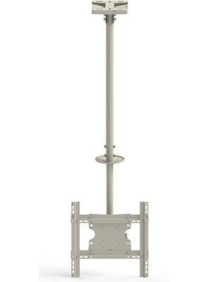 hasta VESA 40 x 40. Telesc/ópico hasta 300 cms Soporte de Techo para TV Giratorio Ceiling Medium Blanco MULTIBRACKETS