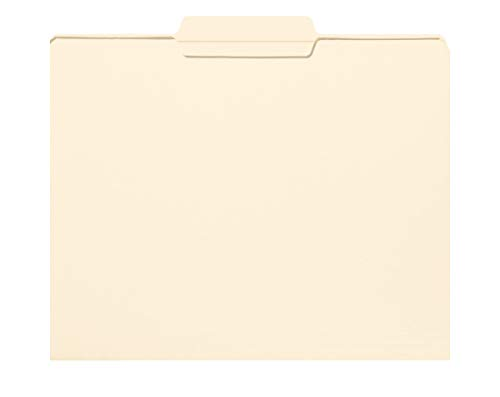 Smead File Folder, Reinforced 1/3-Cut Tab Center Position, Letter Size, Manila, 100 Per Box (10336) (Renewed)