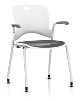 Herman Miller Stackable Caper Chair: FLEXNET Seat - Fixed Ar