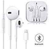 VOWSVOWS Earphones,with Microphone Earbuds Stereo Headphones and Noise Isolating Headset Made Compatible with iPhone XS/XR/X/8/7 (Bluetooth Connectivity) Earphones