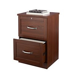 (Realspace(R) Premium Letter-Size Vertical File Cabinet, 2-Drawer, Brick Cherry)