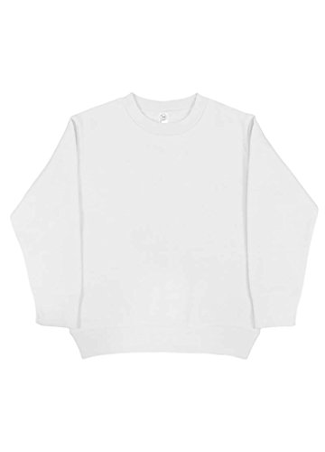 Rabbit Skins Blank Toddler Fleece Sweatshirt [Size 2T] White Long Sleeve (Wide Waistband Jumper)