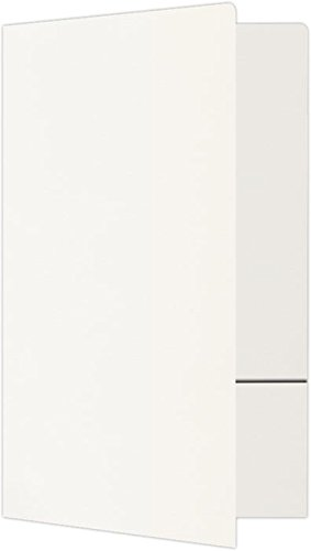Legal Size Folders (9 x 14 1/2) - Standard Two Pockets- White Linen | Perfect for holding legal size 8 1/2