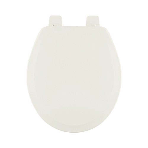 Centoco 700-416 Wood Round Toilet Seat with Closed Front, Biscuit/Linen