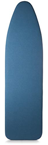Italian Made 15 x 54 Inch Ironing Board Padded Cover, Titanium Coated, Superior Scorch & Stain Resistance, High Heat Retention, 3 Layer Padded w/Connecting Straps - Color/Blue (Patent Pending)